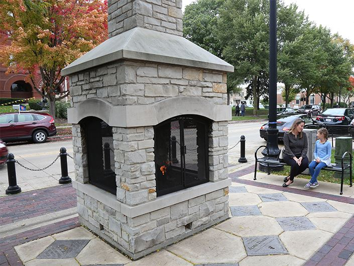 Downtown Fireplace Fall