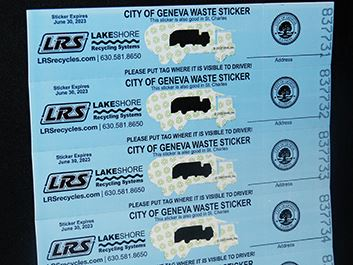 Garbage Stickers - Lakeshore Recyling