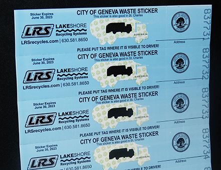 Lakeshore Recycling Garbage Stickers