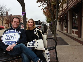 Small Business Saturday Mayor Burns
