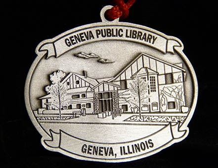 2019 Pewter Ornament  - Geneva Public Library