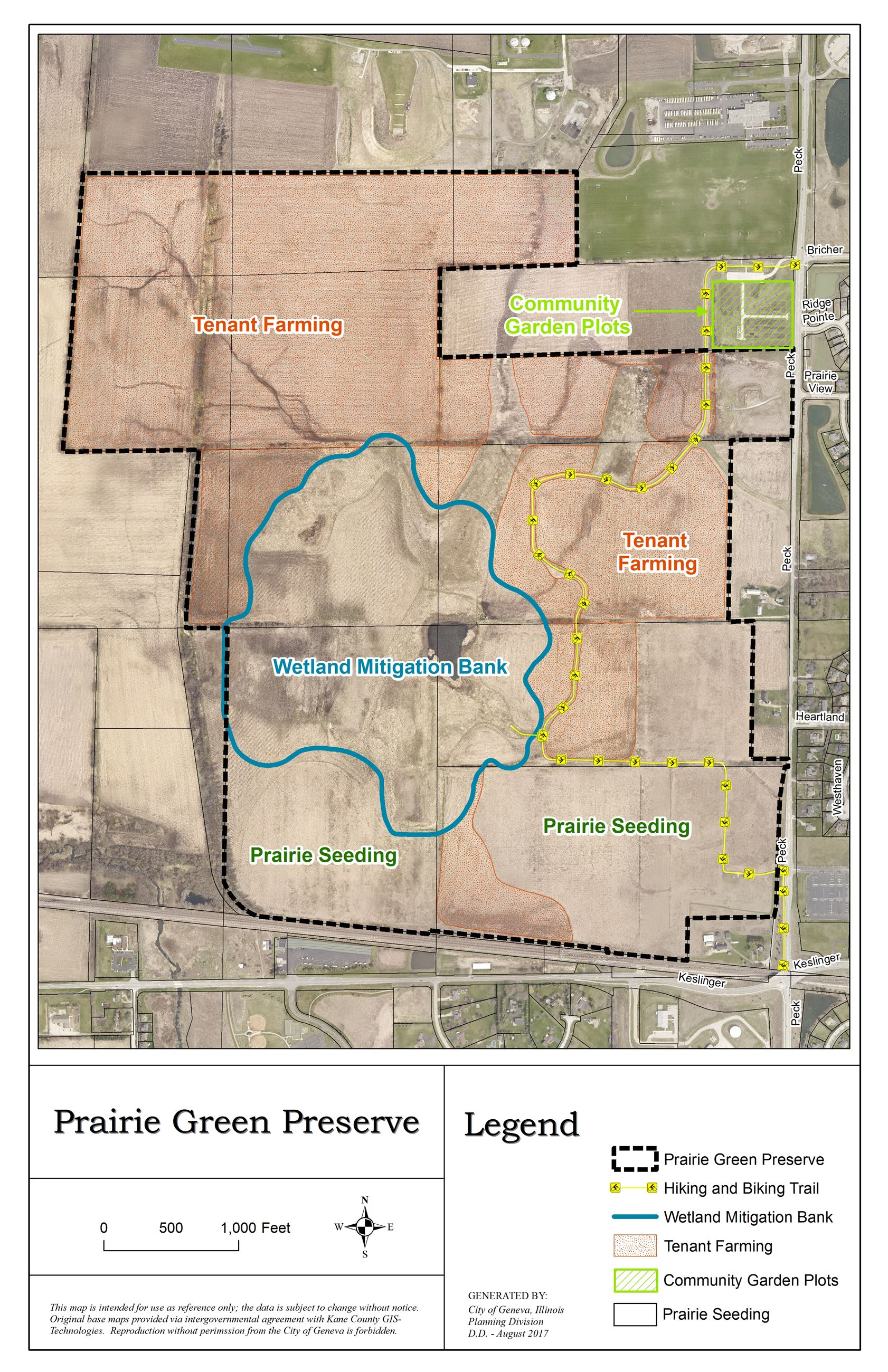 Prairie Green Preserve Geneva IL Official Website - Il on us map