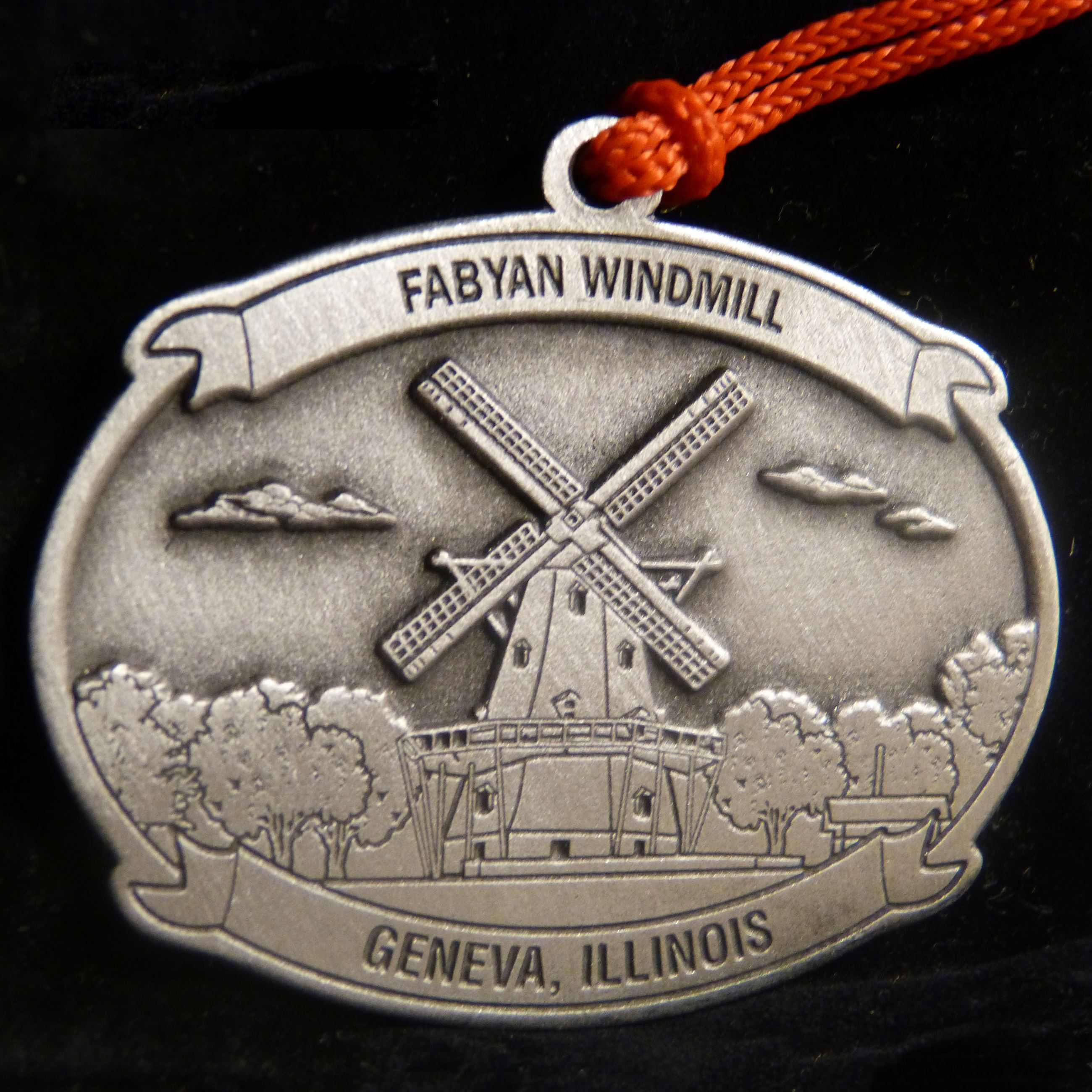 2018 Fabyan Windmill Pewter Ornament