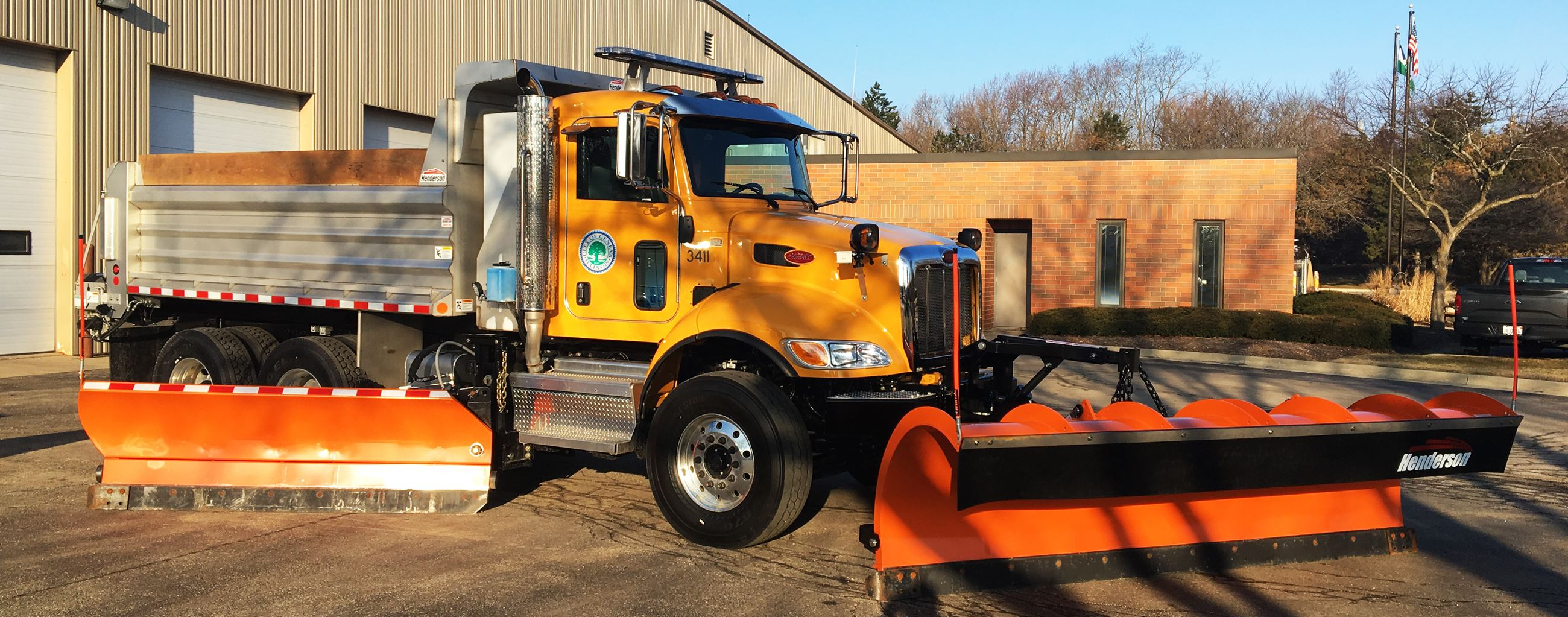 Public Works Dump Truck Snow Plow