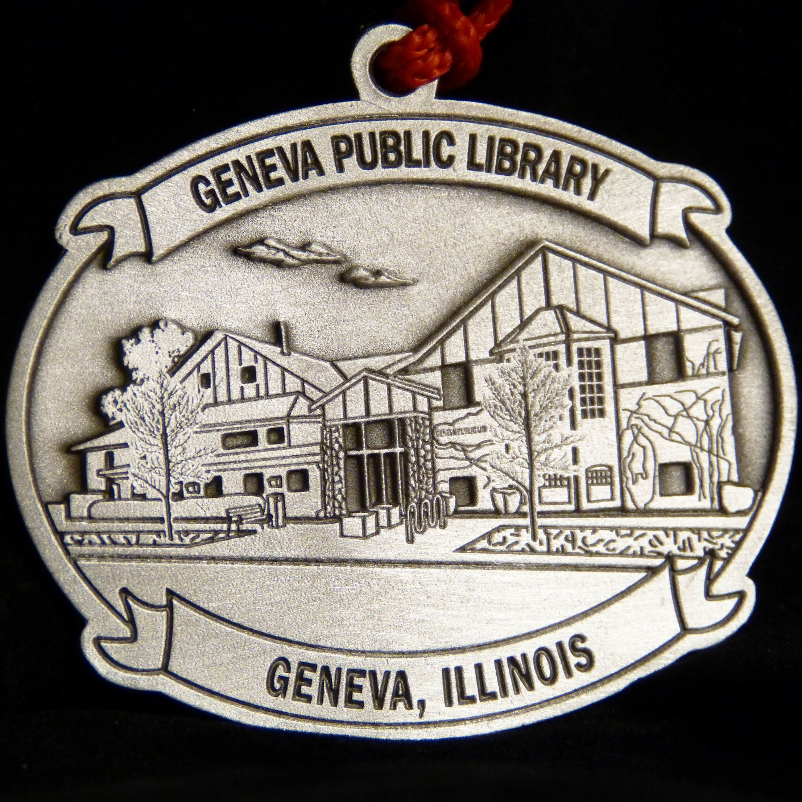 2019 Pewter Ornament - Old Geneva Public Library