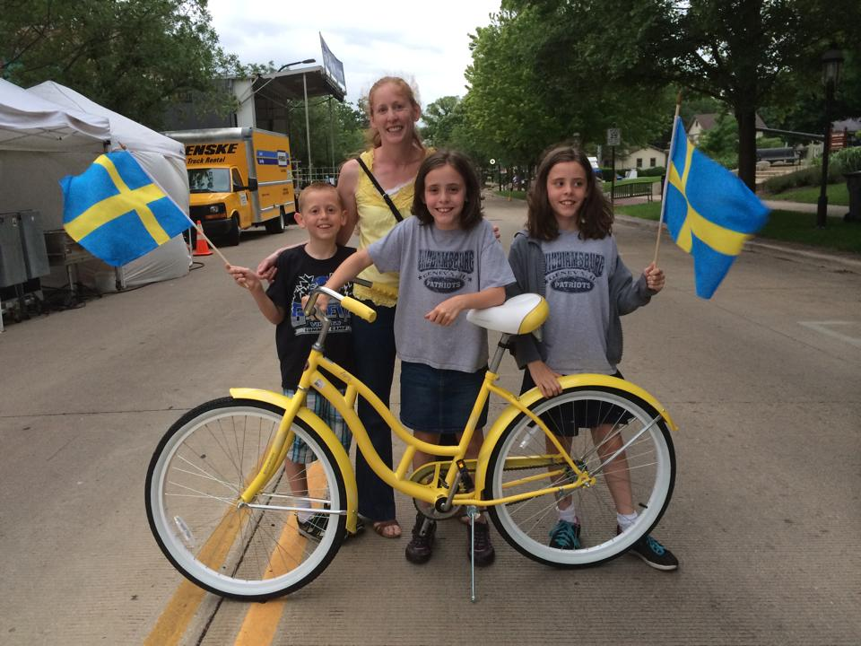 Swedish bike family - Kim Byrne