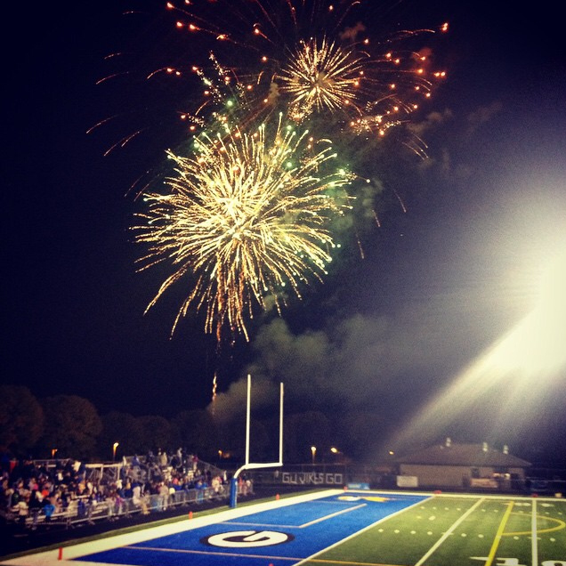 Geneva High School Homecoming Fireworks - Andrea Copeland