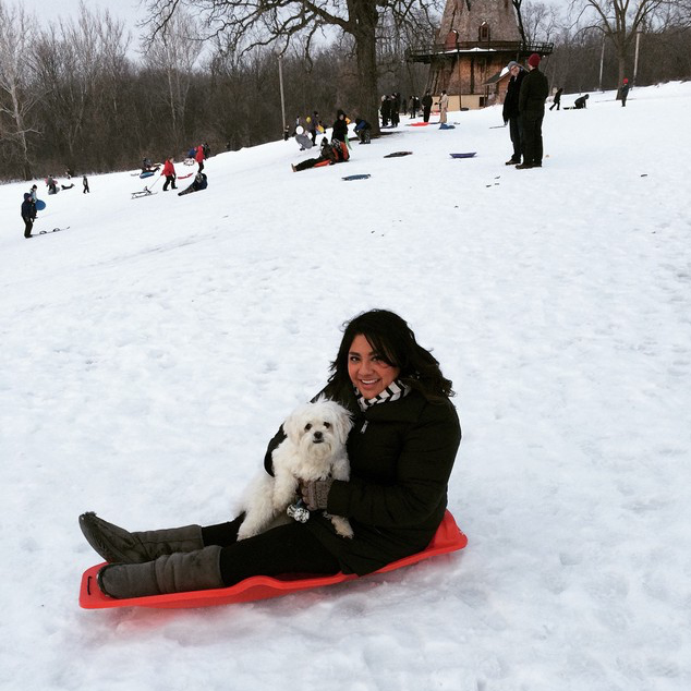 First Time Sledding - Crystal Roddy