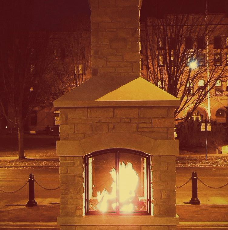Downtown Fireplace - Karen Muehlfelt