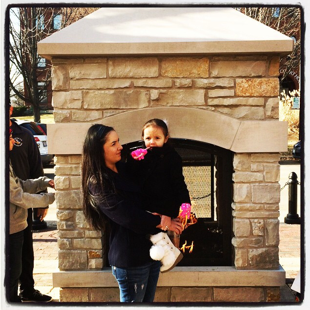 Downtown Fireplace - Lori Davenport Cross