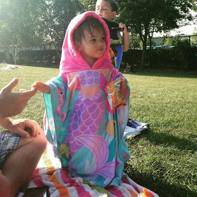 A Day at the Pool - @oneluckymama21