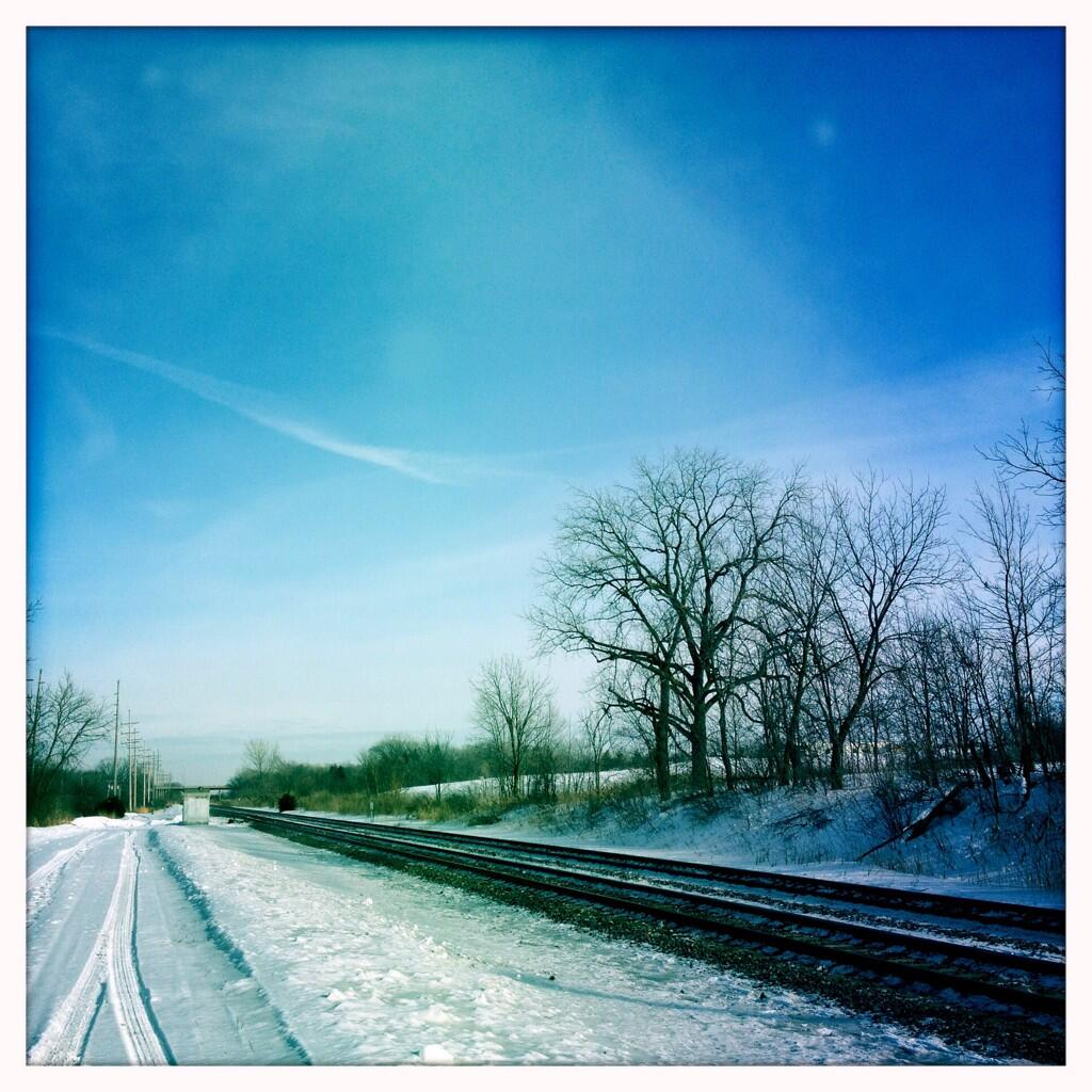 Winter Railroad Tracks