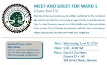 Ward 1 Meet and Greet