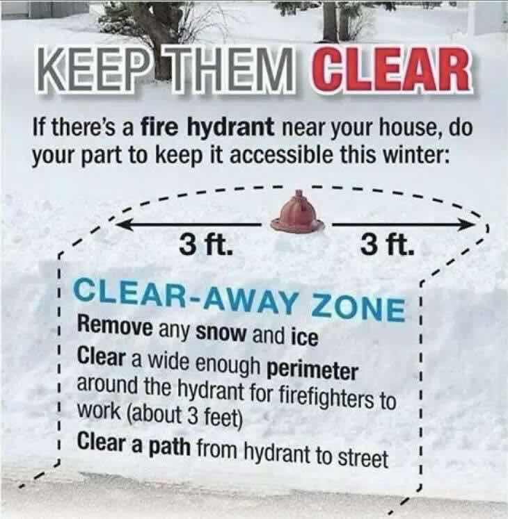 Clear Snow From Fire Hydrants