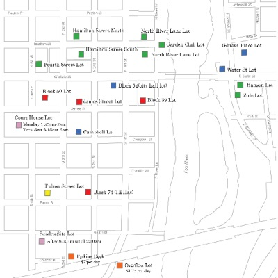 Downtown Public Parking Lots Map