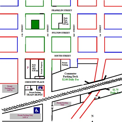 Metra Commuter Parking Lots Map