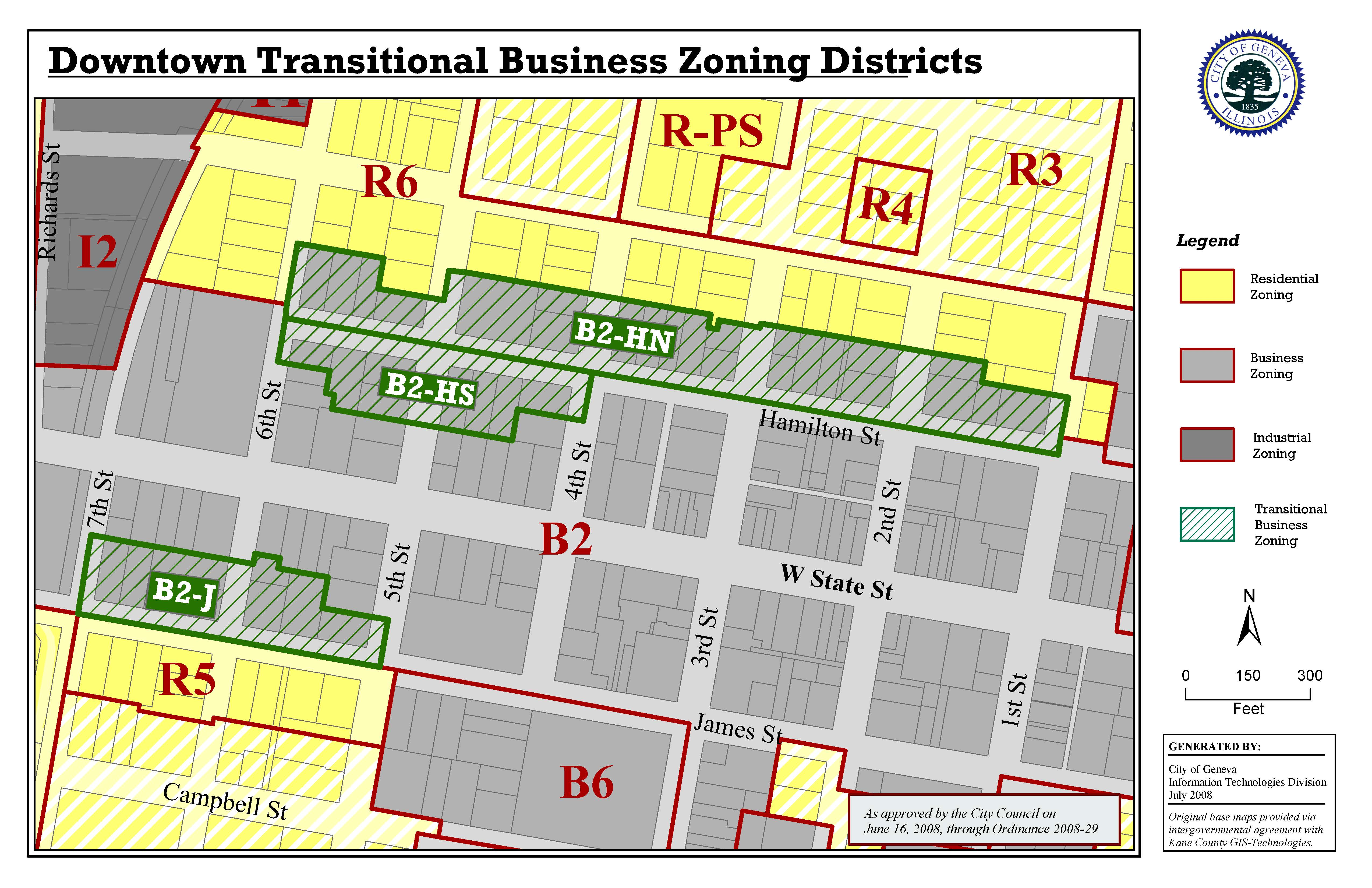 Transitional Business Zoning Districts
